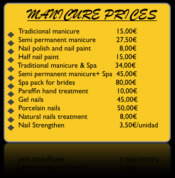 Manicure prices in bilbao